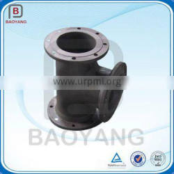 Casting double flange bend ductile iron pipe fitting