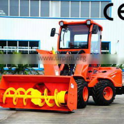 Small agricultural tractor wheel loader machine with snow blower for sale