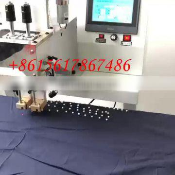 0.6MPA Working Pressure and Suitable for handbags, hats and other accessories Usage pearl attaching machine