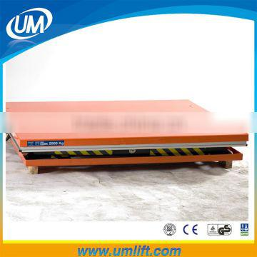 Fixed 2M 5Ton Hydraulic Lifitng Height Scissor Lift With Electric Motor System