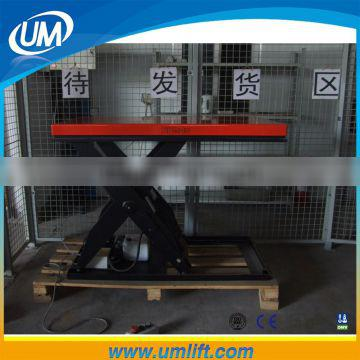 Heavy Duty 1-4 Ton Stationary Scissor Self-propelled Lift Platform With Electric Motor System