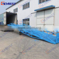 Forklift ramps for warehouse
