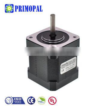 0.9 degree 4 wire 1.7A 2 phase 40mm length 36N.cm Square nema 17 stepper motor shaft options Single double round D-cut