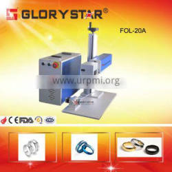 10w/20w /30w IPG/Max optical fiber laser marking machine for jewelry, gold, silver engraving