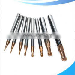 2 flutes ball nose end mills with straight shank