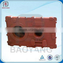 High quality casting cast iron gearbox housing with red painting