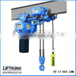 500kgs to 10ton construction lifting equipment low headroom hoist