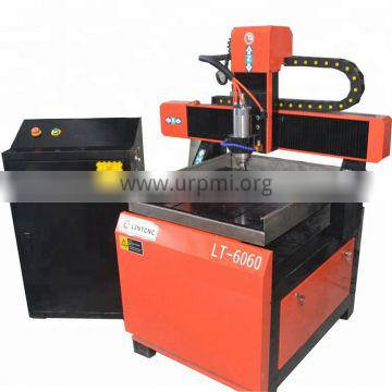 LT-6060 small wood cnc router with 4 axis for engraving and cutting round legs