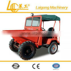 4 wheel tilting cart tractor with front bucket