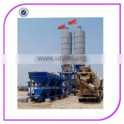 ISO approved 50M3/h small concrete batching plant with 3.8m discharging height