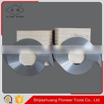 7mm jointing 3.3mm thickness finger jointing cutter for finger jointer machines