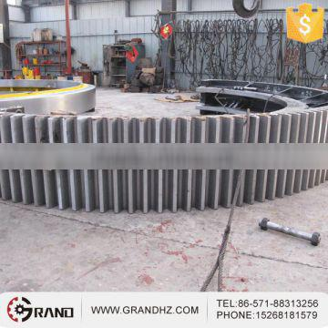 Supply helical spur girth gear wheel used in cement machinery