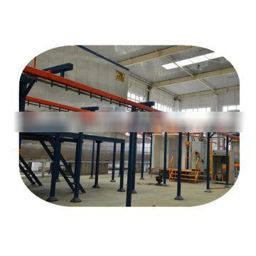 Powder coating production line for aluminum door and window