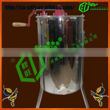 High quality stianless steel manual 3 frames honey extractor