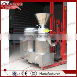 stainless steel cacao grinder into liquor