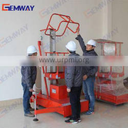 100kg Vertical manual man lift for repairing and installation