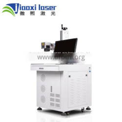 Desktop 20w fiber laser marking machine for rings, metal, stainless steel with rotary