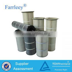 Farrleey Pleated Anti-static Cylinder Bag Filter For Powder Coating