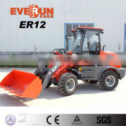 Everun Brand CE Approved 1.2 Ton 4WD Mini Wheel Loader With Euroiii Engine