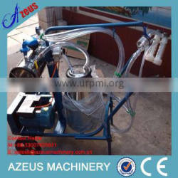 Portable Cow Goat Milking Machine With Stainless Steel Single Bucket