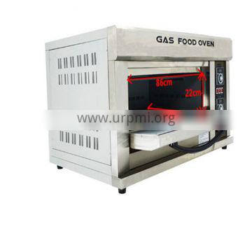 Industrial Single Deck Double Trays Bread Baking Gas Oven For Sale