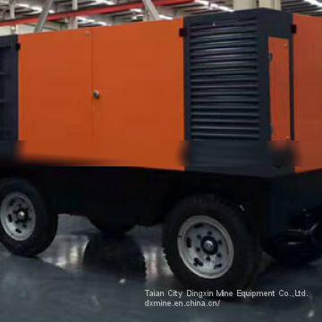 Diesel portable screw air compressor supplied by China manufacture with good price