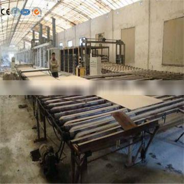 Professional engineers guiding paper faced gypsum board production line with best price