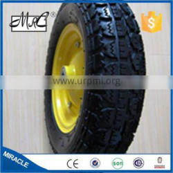 COMPETITIVE PRICES!!! 14 inch diameter pneumatic garden wheelbarrow wheel small rubber wheel 3.50-8
