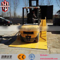 6 ton loading hydraulic mobile loading yard ramp for truck from China Supplier