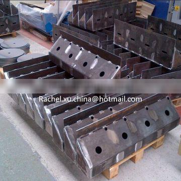 ISO Quality Control Fabricate Constructional Steel / Thick Plate Welding Parts / Steel Structure Fabrication