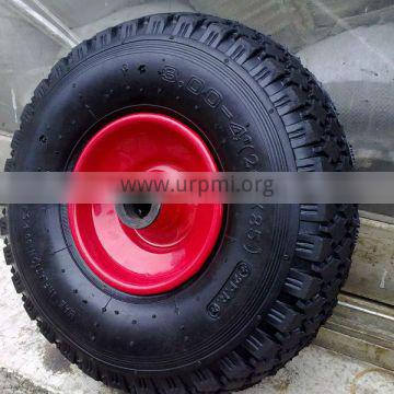 8 inch pneumatic rubber wheel 2.50-4 for hand trolley