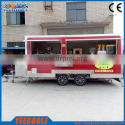Yeegoole catering cart / buy a food truck mobile coffee truck vending ice cream truck for sale CE