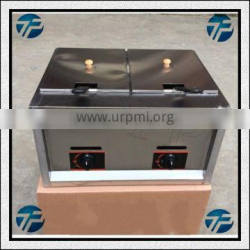 Stainless Steel Gas Fryer With Two Baskets/Gas Fry Machine