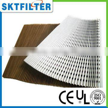 2014 high quality pleated air filter paper
