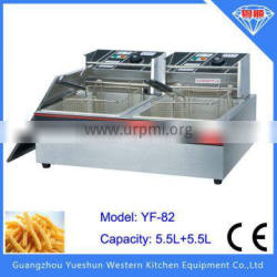 economical Thickened stainless steel 2-tank 2-basket deep fryer