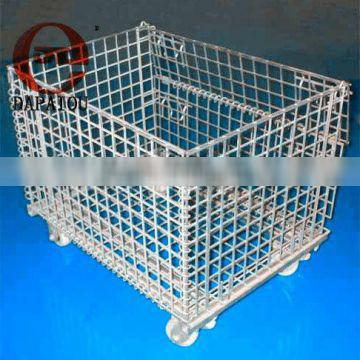 Stackable Wire Rolling Storage Cage