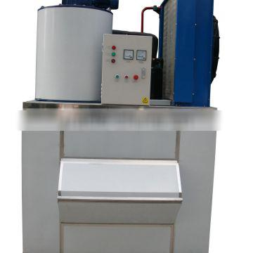 1000kg Commercial Flake Ice Maker with Ice Storage Bin GRT-LB1T