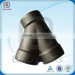 OEM High Quality 45 Degree Y Branch Lateral Carbon Steel Pipe Fitting Tee