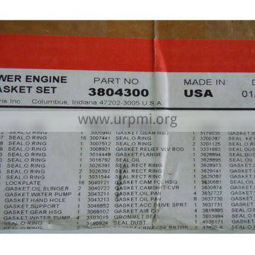 the original Cummin K50 diesel engine lower engine gasket 3804300 for sale cummin repair kit
