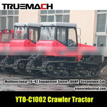 YTO C1002 100hp agricultural crawler tractor