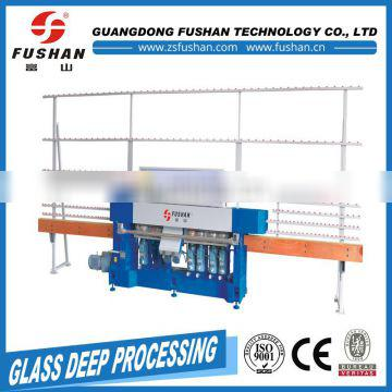Low price of 9 spindles glass edging machine With Promotional Price