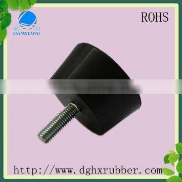 Multifuntional cone abrasion resistant industrial rubber feet with M 10 screw