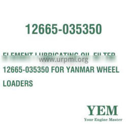 ELEMENT LUBRICATING OIL FILTER 12665-035350 FOR YANMAR WHEEL LOADERS