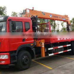 14ton timber crane on truck, Model No.: SQ14S4, hydraulic crane with telescopic arms