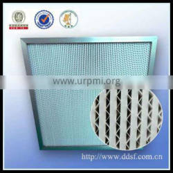 Galvanized frame air filter system hepa filter