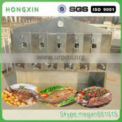 Automatic smokeless charcoal fish grill machine,large capacity fish roasting machine with best price