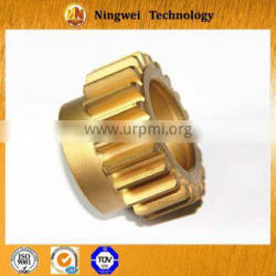 Customized brass cnc machining exquisite spur gears