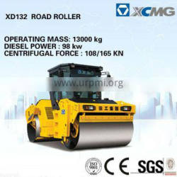 Hydraulic double drum vibratory roller XD132E of 12 ton double drum road roller