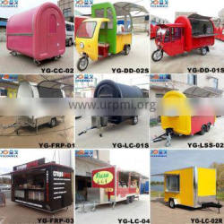 New model can be customized logo Mobile Ice Cream Food trailers,modern mobile food cart/CE