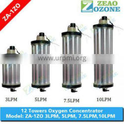 High efficiency 12 towers 5lpm 10lpm oxygen concentrator parts